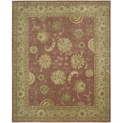 Nourison 2000 Hand Woven Wool Rose Indoor Area Rug Rug Size: 86 x 116