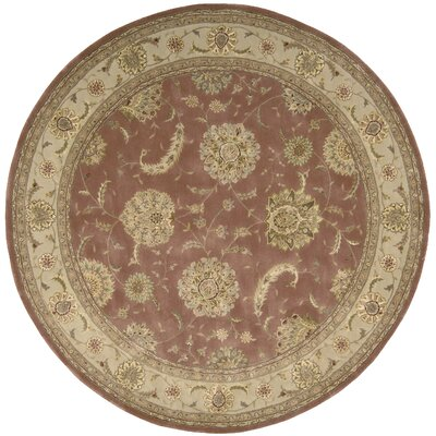 Nourison 2000 Hand Woven Wool Rose Indoor Area Rug Rug Size: Round 4