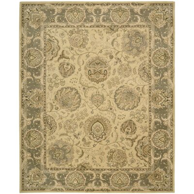 Nourison 2000 Hand Woven Wool Light Gold Indoor Area Rug Rug Size: 79 x 99
