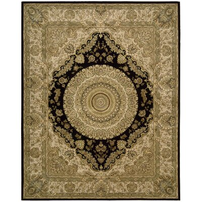 Nourison 2000 Hand Woven Wool Tan Indoor Area Rug Rug Size: 56 x 86