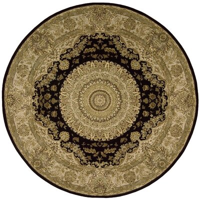 Nourison 2000 Hand Woven Wool Tan Indoor Area Rug Rug Size: Round 8