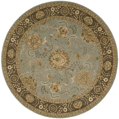 Nourison 2000 Hand Woven Wool Blue Indoor Area Rug Rug Size: Round 6