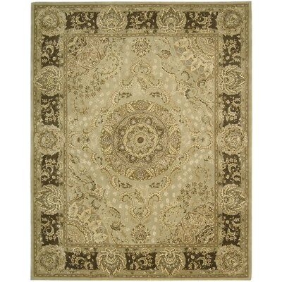 Buckhorn Hand Woven Wool Beige Indoor Area Rug Rug Size: Rectangle 39 x 59