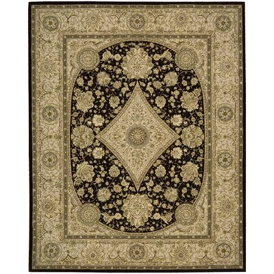 Nourison 2000 Hand Woven Wool Tan/Black Indoor Area Rug Rug Size: 79 x 99
