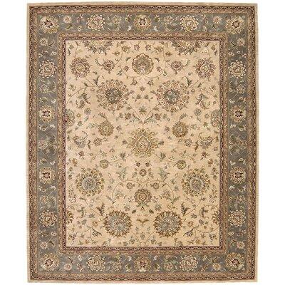 Nourison 2000 Hand Woven Wool Beige Indoor Area Rug Rug Size: 86 x 116