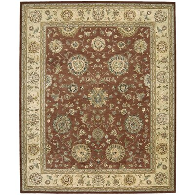 Nourison 2000 Hand-Tufted Rust Area Rug Rug Size: 86 x 116