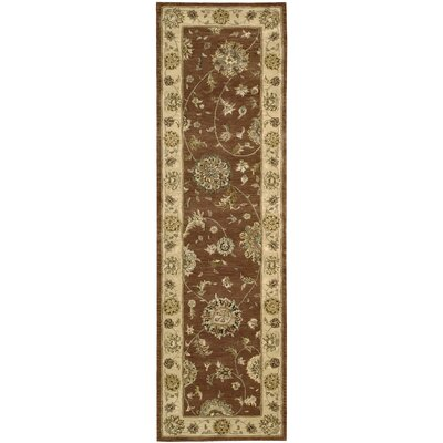 Nourison 2000 Hand-Tufted Rust Area Rug Rug Size: Runner 26 x 12