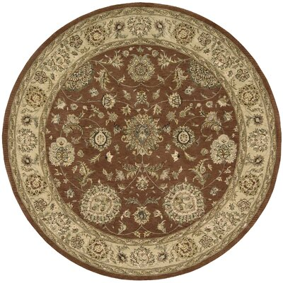 Nourison 2000 Hand-Tufted Rust Area Rug Rug Size: Round 4