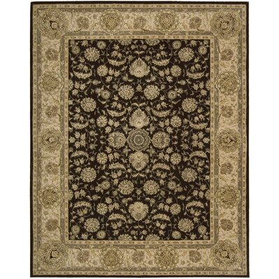 Buckhorn Hand Woven Wool Espresso Indoor Area Rug Rug Size: Rectangle 56 x 86