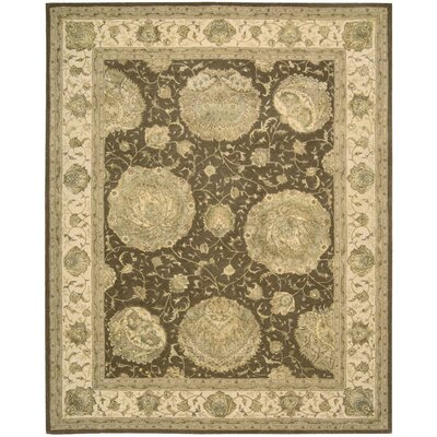 Hand Tufted Brown Area Rug Rug Size: 12 x 15