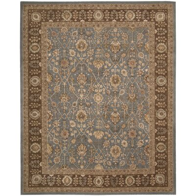 Nourison 3000 Hand-Tufted Light Blue Area Rug Rug Size: 86 x 116