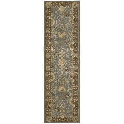Nourison 3000 Hand-Tufted Light Blue Area Rug Rug Size: Runner 26 x 12