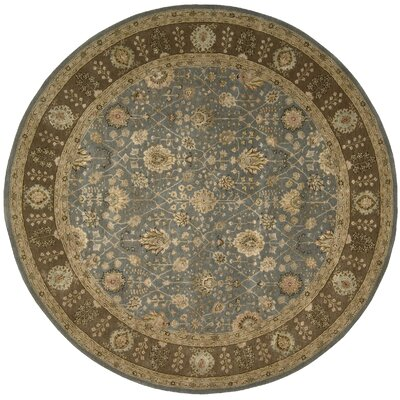 Nourison 3000 Hand-Tufted Light Blue Area Rug Rug Size: Round 8