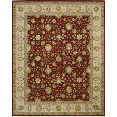 Nourison 3000 Hand-Tufted Red Area Rug Rug Size: 79 x 99