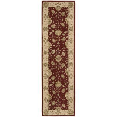 Nourison 3000 Hand-Tufted Red Area Rug Rug Size: Runner 23 x 8