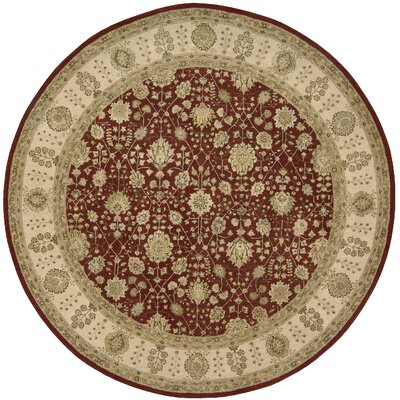 Nourison 3000 Hand-Tufted Red Area Rug Rug Size: Round 8