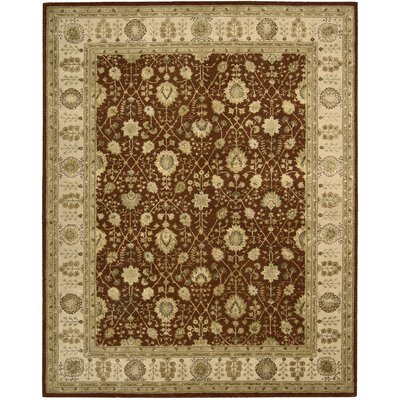 Nourison 3000 Hand-Tufted Rust Area Rug Rug Size: 56 x 86
