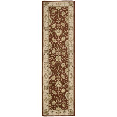 Nourison 3000 Hand-Tufted Rust Area Rug Rug Size: Runner 26 x 12