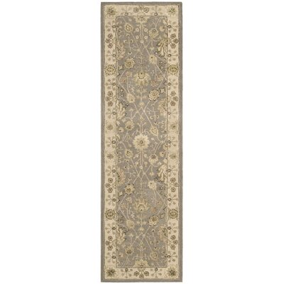 Nourison 3000 Hand-Tufted Taupe Area Rug Rug Size: Runner 2'6