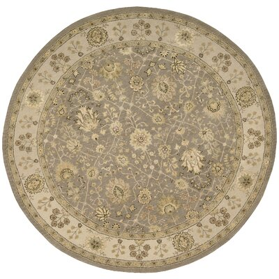 Nourison 3000 Hand-Tufted Taupe Area Rug Rug Size: Round 6'