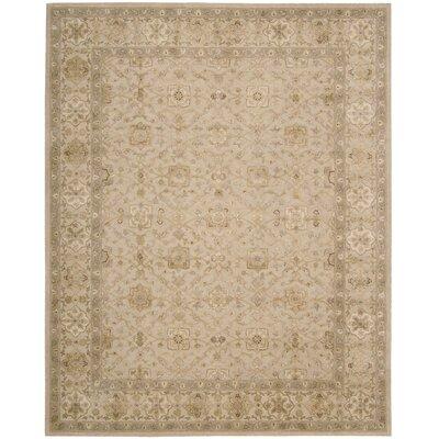 Nourison 3000 Hand-Tufted Beige Area Rug Rug Size: 86 x 116