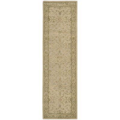 Nourison 3000 Hand-Tufted Beige Area Rug Rug Size: Runner 26 x 12