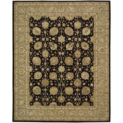 Nourison 3000 Hand-Tufted Black Area Rug Rug Size: 56 x 86