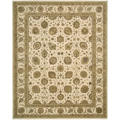 Nourison 3000 Hand-Tufted Ivory Area Rug Rug Size: 86 x 116