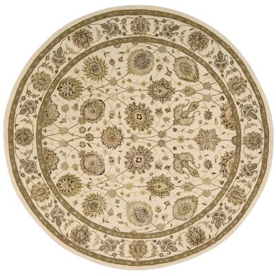 Nourison 3000 Hand-Tufted Ivory Area Rug Rug Size: Round 8