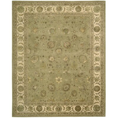 Nourison 3000 Hand-Tufted Light Green Area Rug Rug Size: 86 x 116