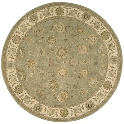 Nourison 3000 Hand-Tufted Light Green Area Rug Rug Size: Round 6