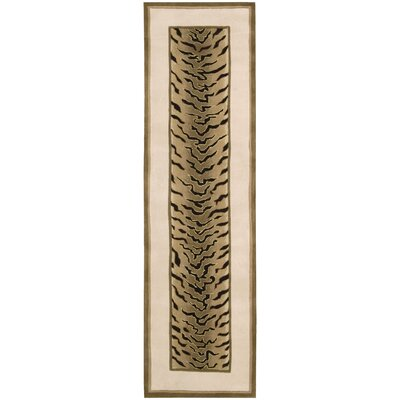 Duquense Brown/Tan Area Rug Rug Size: Runner 23 x 8