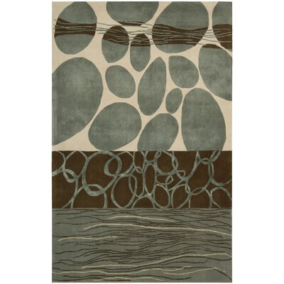 Dimensions Blue/Brown Area Rug Rug Size: 36 x 56