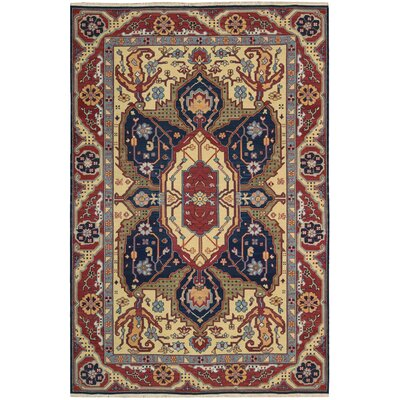 Pierson Hand-Woven Red/Blue Area Rug Rug Size: Rectangle 310 x 510