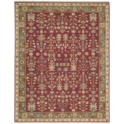 Loon Peak-Cantrell Hand-Woven Burgundy Area Rug