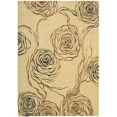 Tarah Floral Ivory Area Rug Rug Size: Rectangle 36 x 56