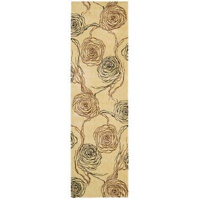 Tarah Floral Ivory Area Rug Rug Size: Runner 2 x 59