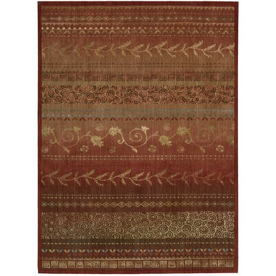 Radiant Impressions Hand-Woven Crimson Area Rug Rug Size: 36 x 56