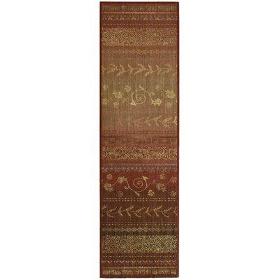 Radiant Impressions Hand-Woven Crimson Area Rug Rug Size: Runner 23 x 8