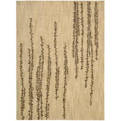 Radiant Impressions Hand-Woven Beige Area Rug Rug Size: 56 x 75
