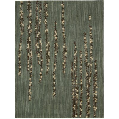 Radiant Impressions Hand-Woven Teal Area Rug Rug Size: 96 x 136