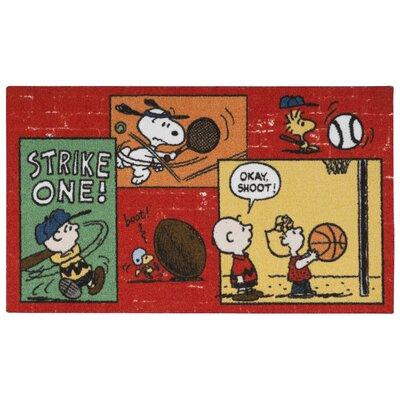 Peanuts Sports Doormat Rug Size: 22 x 39
