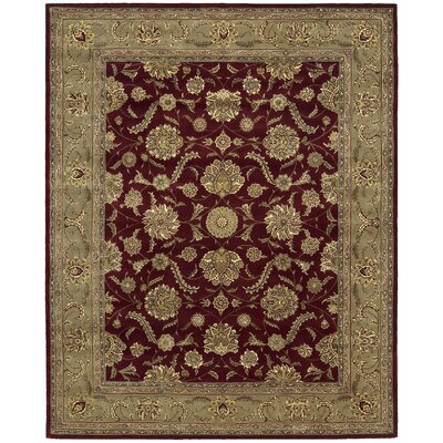 Hand Woven Wool Ruby Indoor Area Rug Rug Size: 76 x 96