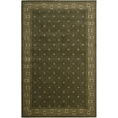 Dunnstown Hand-Woven Spruce Area Rug Rug Size: Rectangle 76 x 96