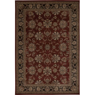Swenson Burgundy Area Rug Rug Size: Rectangle 53 x 74