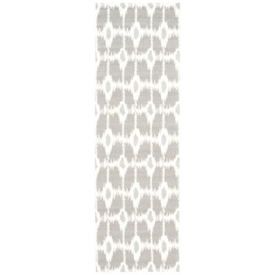 Provencher Gray/Beige Area Rug Rug Size: Runner 26 x 8