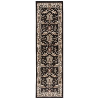 Isabelle Rug in Gray/Ivory Rug Size: Runner 22 x 76
