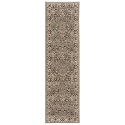 Lydia Light Brown Area Rug Rug Size: Runner 22 x 76