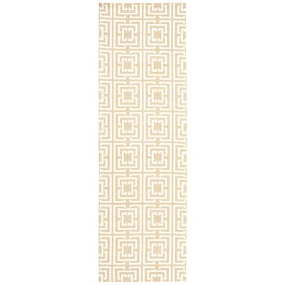 Astra Rug in Tan Rug Size: Runner 26 x 8