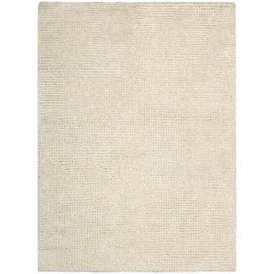 Fantasia Hand-Tufted Snow Area Rug Rug Size: 36 x 56